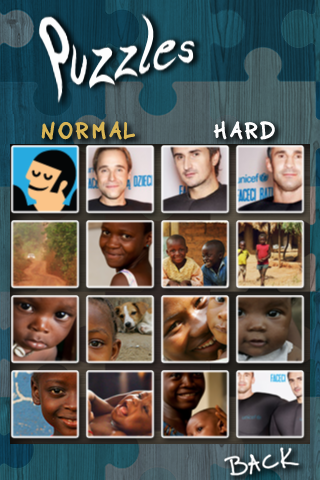 Screenshot UNICEF iPuzzle
