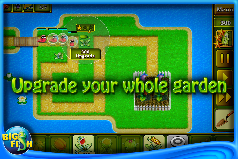 Garden rescue iphone puzzle games by big fish games inc for Big fish games inc